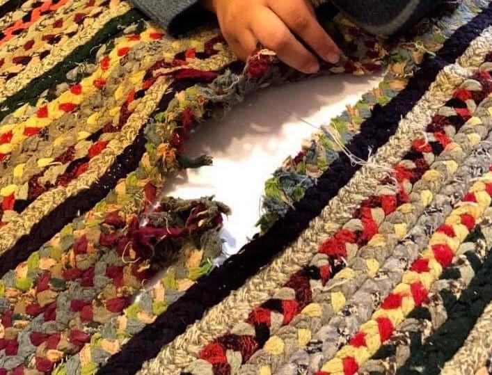 rug repair before